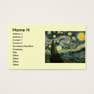 Vincent van Gogh's The Starry Night (1889) Business Card