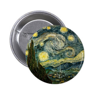 Vincent van Gogh's The Starry Night (1889) 2 Inch Round Button