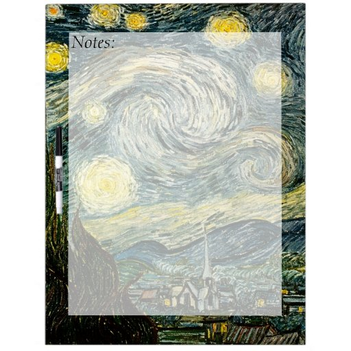 Vincent van Gogh's The Starry Night (1889) Dry-Erase Boards