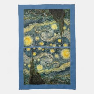 Vincent van Gogh's The Starry Night (1889) Hand Towel
