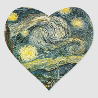 Vincent van Gogh's The Starry Night (1889) Heart Sticker