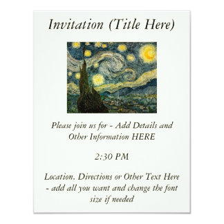 Vincent van Gogh's The Starry Night (1889) Personalized Announcement