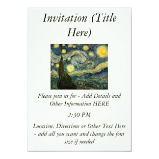 Vincent van Gogh's The Starry Night (1889) Personalized Invites