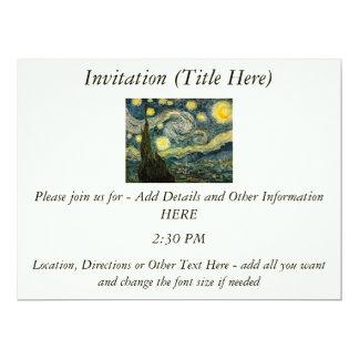 Vincent van Gogh's The Starry Night (1889) Custom Invitations