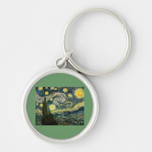 Vincent van Gogh's The Starry Night (1889) Keychains