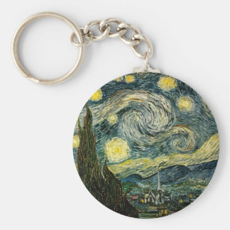 Vincent van Gogh's The Starry Night (1889) Keychain