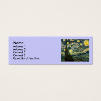 Vincent van Gogh's The Starry Night (1889) Mini Business Card