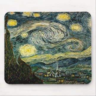 Vincent van Gogh's The Starry Night (1889) Mouse Pads