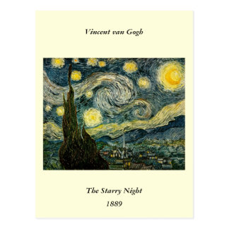 Vincent van Gogh's The Starry Night (1889) Postcard
