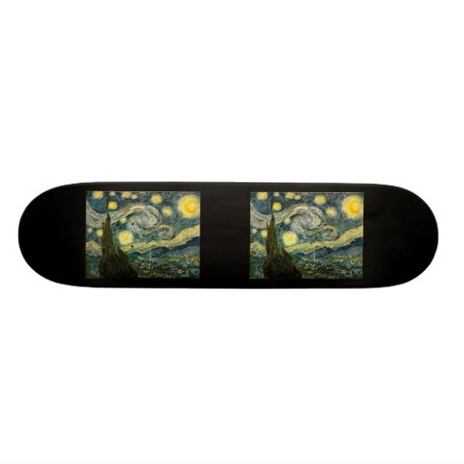 Vincent van Gogh's The Starry Night (1889) Skateboard