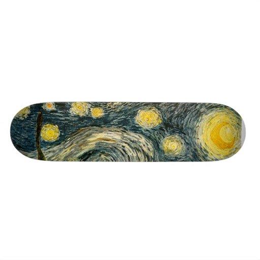 Vincent van Gogh's The Starry Night (1889) Skateboard Deck