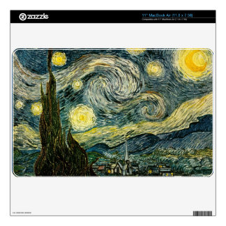Vincent van Gogh's The Starry Night (1889) Skins For MacBook Air