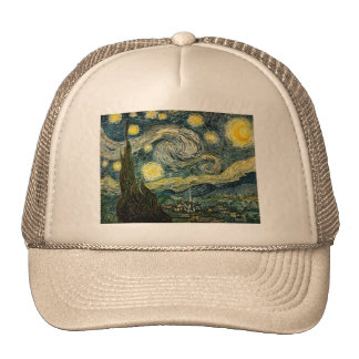 Vincent van Gogh's The Starry Night (1889) Trucker Hat