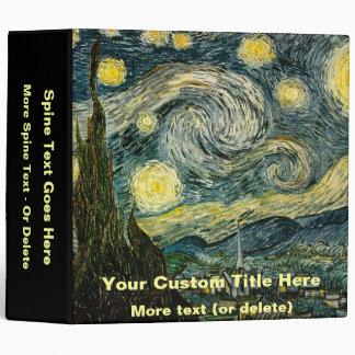 Vincent van Gogh's The Starry Night (1889) Vinyl Binders