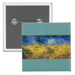 Vincent van Gogh's Wheat Field with Crows (1890) Pinback Buttons