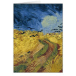 Vincent van Gogh's Wheat Field with Crows (1890) Greeting Card
