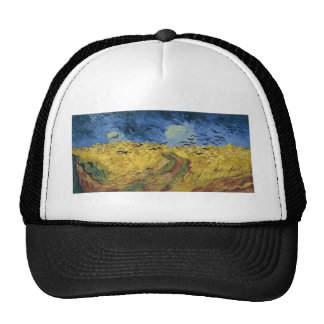 Vincent van Gogh's Wheat Field with Crows (1890) Mesh Hat