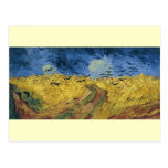 Vincent van Gogh's Wheat Field with Crows (1890) Post Cards