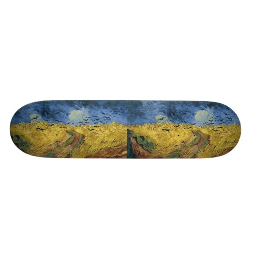 Vincent van Gogh's Wheat Field with Crows (1890) Skate Board Deck