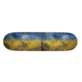 Vincent van Gogh's Wheat Field with Crows (1890) Skateboard Deck