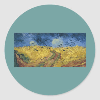 Vincent van Gogh's Wheat Field with Crows (1890) Stickers