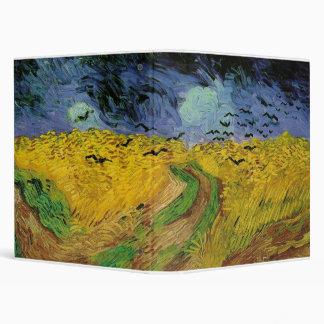 Vincent van Gogh's Wheat Fields Under Treatening S Vinyl Binder