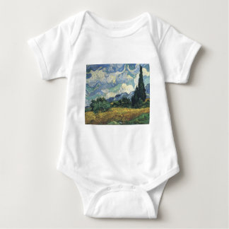 Vincent van Gogh's Wheat Fields With Cypresses Baby Bodysuit
