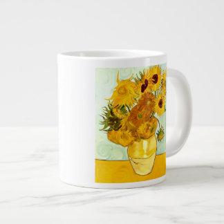Vincent Van Gogh's Yellow Sunflower Painting 1888 Large Coffee Mug