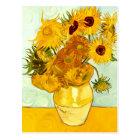 Vincent Van Gogh's Yellow Sunflower Painting 1888 Postcard
