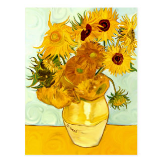 Vincent Van Gogh's Yellow Sunflower Painting 1888 Postcard