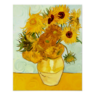 Vincent Van Gogh's Yellow Sunflower Painting 1888 Poster