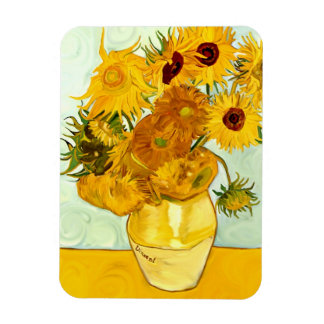 Vincent Van Gogh's Yellow Sunflower Painting 1888 Rectangle Magnets