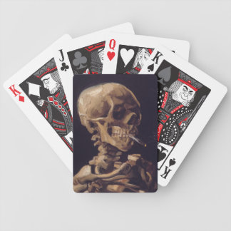 Vincent van GoghSkull with a Burning Cigarette   B Bicycle Playing Cards