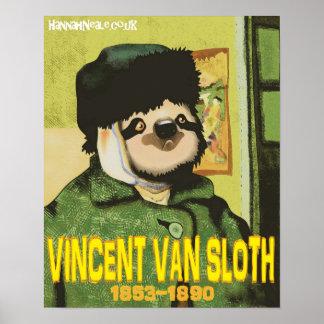 Vincent Van Sloth Print Póster