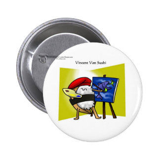 Vincent Van Sushi Gifts Mugs Tees Cards Etc Pins