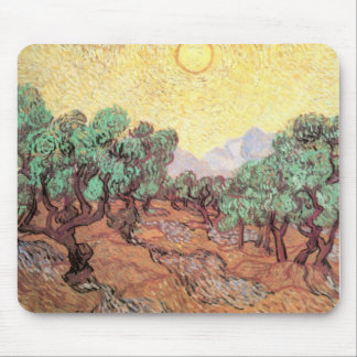 Vincent VanGogh - Olive Grove Mouse Pads