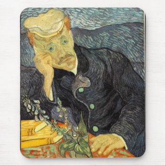 Vincent Willem van Gogh and The portrait of Dr. Ga Mouse Pad