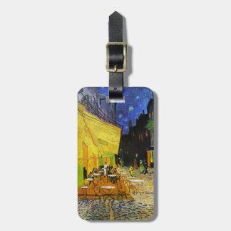 """Vincent Willem van Gogh, """"Café Terrace at Nigh"""" Bag Tag"""