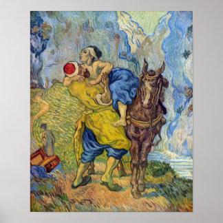 Vincent Willem Van Gogh - el buen samaritano Póster