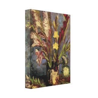 Vincent Willem Van Gogh - florero con los gladiolo Lona Envuelta Para Galerías