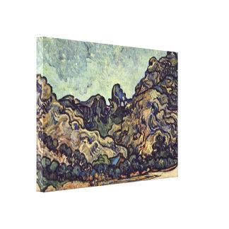 Vincent Willem van Gogh - hills near Saint-Remy Gallery Wrap Canvas