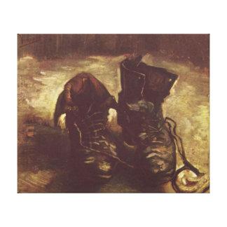 Vincent Willem Van Gogh los zapatos envolvió la Impresión En Tela