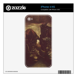 Vincent Willem van Gogh pair of-shoes Skin For iPhone 4