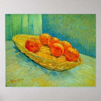 Vincent Willem Van Gogh - seis naranjas Póster