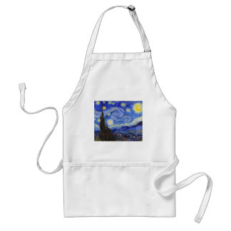 "Vincent Willem van Gogh, ""Starry Night"" Adult Apron"