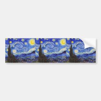 "Vincent Willem van Gogh, ""Starry Night"" Bumper Sticker"