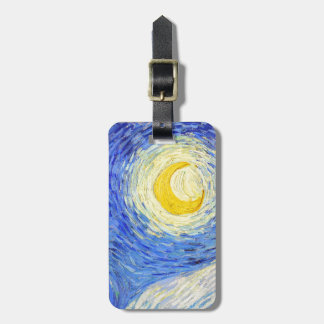 """Vincent Willem van Gogh, """"Starry Night"""" Luggage Tag"""