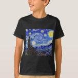 "Vincent Willem van Gogh , "" Starry Night "" Playera"