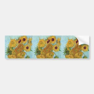 "Vincent Willem van Gogh, ""Sunflowers"" Bumper Sticker"