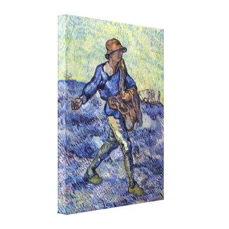 Vincent Willem van Gogh - The Sower Canvas Prints